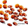 100PCS Brown Crystal Octagon Beads Chandelier Lamp Parts Wedding Decor Hang 14MM