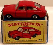 DTE LESNEY MATCHBOX REGULAR WHEELS 67-2 RED VW VOLKSWAGEN 1600 TL NIOB