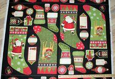 "Santa's Gifts Stockings Socks Label Tag Debbie Mumm Christmas Fabric 23"" #67486"