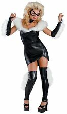 Black Cat Prestige Female Adult Costume Marvel Comics Size 12-14 NWT Disguise