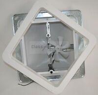 """14"""" rv roof vent 12 volt fan power FREE Garnish Ring  Heng's WHITE 12V 71112-C"""