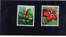 NEW CALEDONIA Sc 304-5(YT 288-9)*VF LH 1958 FLOWER SET $16