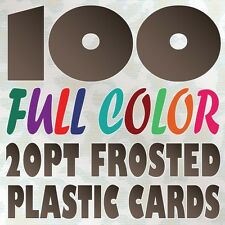 100 Full Color Custom 20pt FROSTED PLASTIC BUSINESS CARD Printing Round Corners