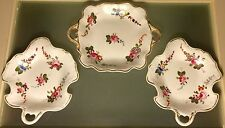Samuel Alcock or Spode Antique English Porcelain Handpainted 3 Tray Snack Set