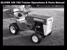 Oliver 105 125 Operations & Parts Manuals 60pg w Tractor Engine Service & Repair