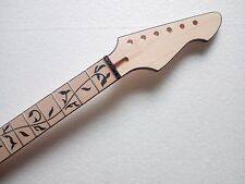 """Best unfinished maple Guitar Neck 24 fret 25.5"""" hand made For Electric guitar"""