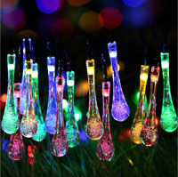 30 LED Solar String Ball Lights Outdoor Waterproof Patio Party Yard Garden Decor