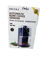 Secura Automatic Burr Coffee Grinder 17 Position Grind Selector Quantity Control