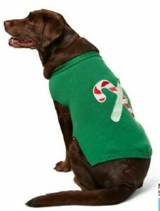 Martha Stewart Pets® Candy Cane Red White Green Holiday Sweater Large New
