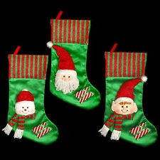 Green & Red 50cm Christmas Stocking - Plush 3D Head - Choose Design