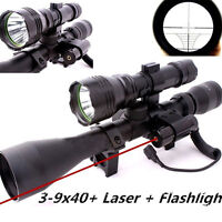 Sports Tactical Riflescope 3-9X40 Optics QQ01 Red Laser Sight Scope Hunting