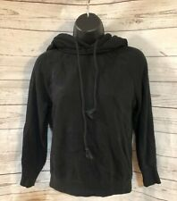 Authentic Helmut Lang Women's Black Vintage Effect Shrunken Hoodie Size XS