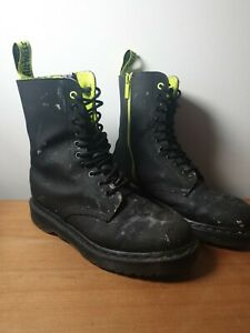 Dr.Martens 1490 ALT. leather boots. Made in THAILAND *UK size 8* - well used
