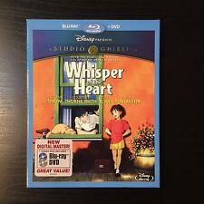 Whisper Of The Heart Blu-ray & DVD 2012  2-Disc Set Ghibli SEALED w/ SLIP COVER