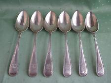 Sechs Tafel-Löffel aus 800er Silber mit Perlrand-Dekor von WILKENS