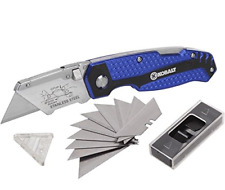 Kobalt Utility Knife & 11 Blades Foldable Speed Release Quick Change Box Cutter