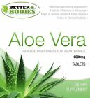 Aloe Vera Juice 6000mg Tablets Super Strength Colon Cleanse