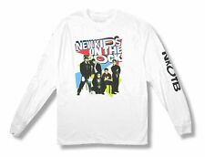 New Kids On The Block Retro Color Band White Long Sleeved Shirt New Official