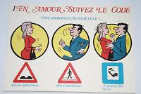 08A28 Cpsm Illustrator Alexandre Serie in Amour Folgen der Code Humorvoll