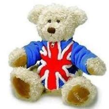 RUSS BERRIE UNION JACK TEDDY BEAR GIFT NEW WITH DETACHABLE UNION JACK JACKET