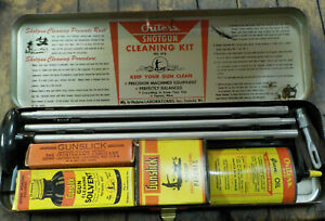 1950's Outers Gunslick 12 Gauge Shotgun Cleaning Kit No. 478 Complete