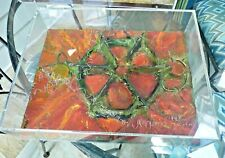 Artist Hand Made Mixed Media Dimensional Metal Parts Collage In Plexiglass Case