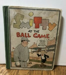 Vintage Book 1929 SMITTY at the Ball Game Book w/ BABE RUTH