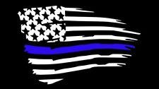 "Blue Lives Matter American Flag Decal Sticker Back The Blue Cops Flag  8.5"""