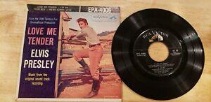"""ROCK N ROLL ELVIS PRESLEY """"LOVE ME TENDER """" 45 EP RECORD & SLEEVE 7"""""""