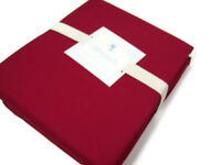 Pottery Barn Kids Organic Cotton Solid Red Queen Sheet Set New