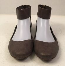 Anthropologie Leifsdottir Vero Cuoio Ankle Strap Ballet Flats size 38.5 (8 US)