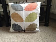 HANDMADE CUSHION COVER USING ORLA KIELY MULTI  SCRIBBLE STEM FABRIC