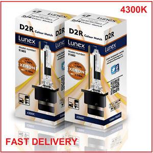 2 x D2R Genuine LUNEX XENON 4300K HID BULB compatible with 85126 66050 66250