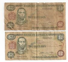 2 Bank of Jamaica $2 Bank Note
