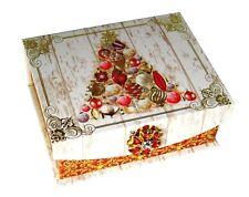 Punch Studio Jewel Flip Top Nesting Box Victorian Tree 68871 Christmas Small