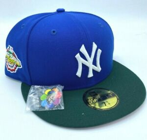 New Era 59Fifty Jae Tips New York Yankees Subway Series Patch Blue UV 7 1/4 🚚✅