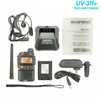 For Baofeng UV-3R+Plus Walkie Talkies Dual band UHF/VHF Ham CTCSS Two-Way Radio