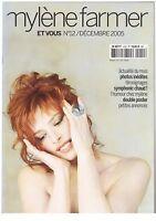 Magazine Mylene Farmer Revue Et Vous n°12 + calendrier .. sans poster