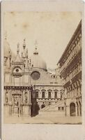 Carlo Ponti Venezia Palazzo Ducaie Italia CDV Vintage Albumina