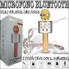 MICROFONO MULTIFUNZIONE WIRELESS CON BLUETOOTH KAROKE CASSA INTEGRATA USB TFCARD