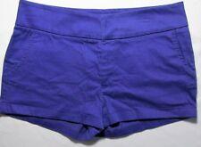 Sophia Vergara Womens Shorts Cuffed Purple Cotton Stretch Pockets Size 8