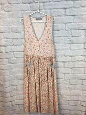 VTG Carol Anderson California Floral Sleeveless Country Prairie Dress Size S USA