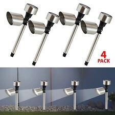 4pk LED Solar Powered Security Spotlight Outdoor Garden Decor Path Border Light