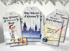 6 Harry Potter Hogwarts Christmas Gift Tags & Ribbon