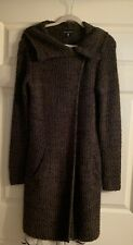 Willi Smith New Long Brown Knit Alpaca Blend Sweater Duster Cardigan Pockets M