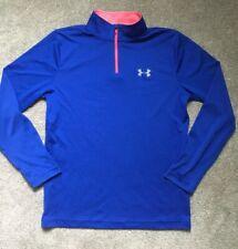 Under Armour Size Youth Xl Loose Fit Heat Gear Quarter Zip Shirt Running