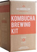 Kombucha Brewing Kit with Organic Kombucha Scoby. Includes Glass Brew Jar Org...