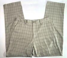 MENS TAN PLAID FOOT JOY GOLF PANTS 34 X 32 - Stretch - Polyester & Spandex Blend