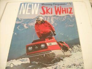1968 Vintage SKI WHIZ Snowmobile Brochure Massey Ferguson Farm Tractor