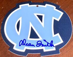 DEAN SMITH North Carolina Tarheels basketball auto autograph signed UNC LOGO TAG